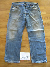 destroyed levi feather 501 grunge usa jean tag 38x30 meas 36x28 10925F