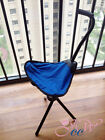 FOLDING PORTABLE WALKING STICK CANE CHAIR TRAVEL CAMP TRIPOD STOOL