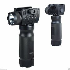 UTG Tactical Aluminum Foregrip Grip Handle Flashlight Fit 20mm Rail Full Metal