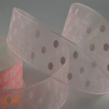 Quality Cut Length 1m Polka Dot Organza Sheer Ribbon 10 25mm Dotty Spot Vintage