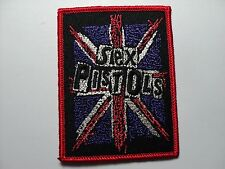 SEX PISTOLS  FLAG  EMBROIDERED PATCH IRON OR SEW