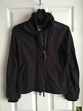 Superdry Women's Black Windcheater Trapper Jacket Size S