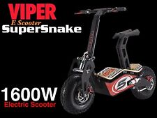 1600W 48V Electric Scooter Viper SuperSnake New 2017 Model, Terrain Tyres,
