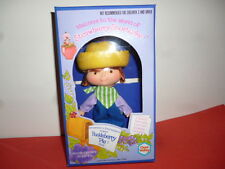 Vintage 1980 Strawberry Shortcake Huckleberry Pie Muñeca plana manos MIB