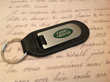 LAND ROVER Key Ring Etched and infilled  3 Leather FREELANDER DEFENDER DISCOVERY
