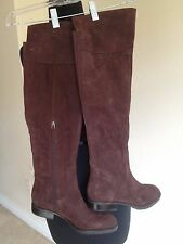 Franco Sarto Brown Suede Over The Knee Boots 7