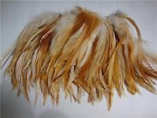 50+ VARIGATED NATURAL RED SADDLE HACKLE FEATHERS 5-7""