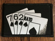762 NATO Playing Cards Morale Patch Tactical FAL 308 Hand printed in the USA