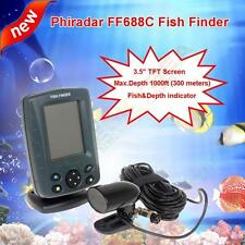 Phiradar FF688C 1000ft Depth Alarm Fishfinders Boat Sonar 100-level Sensitivity