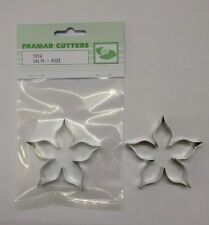 Cake Decorating 101A Rose Calyx - XL by Framar Cutters