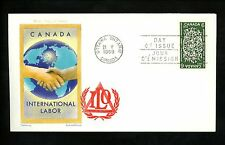 Postal History Canada Scott #493 Overseas Mailer FDC International Labor 1969 ON