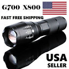 G700 X800 5000LM T6 LED Zoom Flashlight Tactical Torch Zoom Lamp Super Light