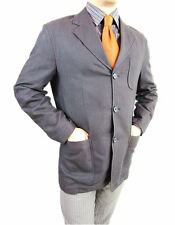 Mens ESPRIT Design Black Elegant Casual Spring Summer Jacket Blazer sz 50 L AS12