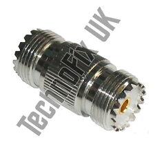 SO239 UHF female to female barrel coupler (UHF F to UHF F) - accepts PL259 plugs
