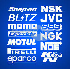 SUBARU WRC RALLY RACE SPONSOR STACK - DECALS STICKERS GRAPHICS