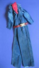 1977 Vtg Ken Clothes Best Buy Fashion Blue Velvet SUPERSTAR JUMPSUIT/Belt #2211