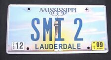 "MISSISSIPPI VANITY License Plate "" SMI 2""  STEVE STAN SCOTT STUART INGLE INGRAM"