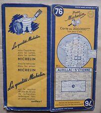 carte MICHELIN 76 AURILLAC - SAINT ETIENNE 1953