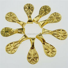 13259 100PCS Gold Glue on Bails Setting Waterdrop Lemon Bails For Necklace Charm