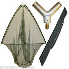"36"" Carp Pike Catfish Fishing Landing Net With Metal Block + Stink Bag NGT"