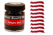 PRIVATE RESERVE - Fountain Pen Ink Bottle - VAMPIRE RED -  66ml - New