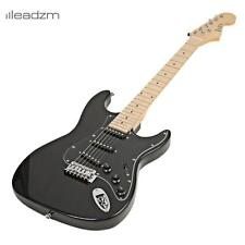 Leadzm School 15w AMP ST Burning Fire Electric Guitar with Black Fender Black