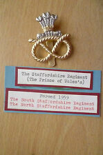STAYBRITE BADGE- THE STAFFORDSHIRE REGIMENT~THE PRINCE OF WALES,J R Gaunt B'Ham