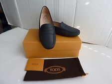 Tod's  Leather Mocassino Gommino in Navy Blue Size:37/ 7 New With Box  ITALY