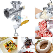 Manual Meat Grinder Sausage Beef Mincer Maker Machine Table Kitchen Home Tool
