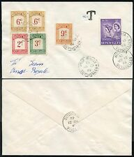 SEYCHELLES POSTAGE DUES ANSE ROYALE INTERNAL 2c + 2 x 13c MIXED ISSUES