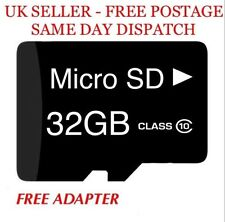 32GB Micro SD Memory Card Class 10 SDHC NEXT DAY DELIVERY AVAILABLE FREE ADAPTER