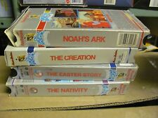 Hanna Barbera's Greatest Adventure lot of 4 VHS Nativity Easter Noah Creation