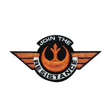 """Star Wars """"Join the Resistance"""" Iron-On Patch Rebel Alliance Soldier Applique"""