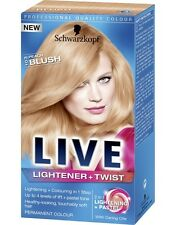 Schwarzkopf Live Lightener & Twist 103 Peach Blush Long Last Hair Colour Dye x1
