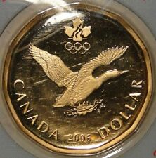 BU UNC Canada 2006 proof lucky loonie $1 dollar coin bookmark