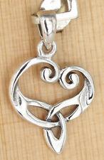 Anhänger Silber Keltisch Dreifaltigkeit Triquetra Herz  Heart