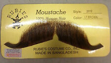 Lt Brown European Moustache 100% Human Hair Lace Backing Fake Mustache Style2012
