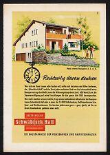 3w910/ Alte Reklame - von 1961 - Bausparkasse SCHWÄBISCH HALL