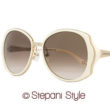 Montblanc Round Sunglasses MB416S 25F Ivory/Rose Gold 416