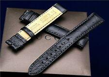 New Gucci 17 MM Black Crocodile Watch Band-(17.130)