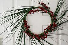 Christmas Red Berries wreath with grass spray