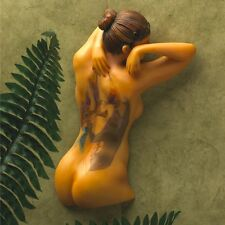 Tattooed Nude Naked Female Girl Woman Wall Statue Sculpture
