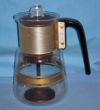 VTG/Mid Century Cory Coffee Peculator Glass Pot - Stove Top Gold/Copper #DGPL3!