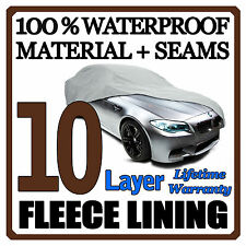 10 Layer Car Cover Breathable Waterproof Layers Outdoor Indoor Fleece Lining Fih