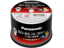 New! 50 Panasonic Bluray BD-RE DL 50GB 2x Speed Rewritable Inkjet Printable Disc