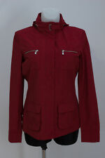 WOMENS SERGIO TACCHINI THIN JACKET MESH LINING HOODED RED SIZE M MEDIUM EXC