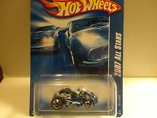 2007 Hot Wheels #135 Blue Go Kart w/5 Hole & 5 Spoke Wheels