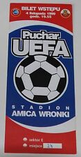 Ticket for collectors EC Amica Wronki - Atletico Madrid 1999 Poland Spain