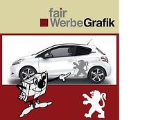 Aufkleber /  Sticker / Seitenbeschriftung / Dekor / Peugeot Löwe / #071