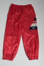 MENS PUMA TRACKSUIT TROUSERS SPORT PANTS MESH LINING RED SIZE L LARGE VGC
